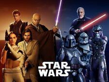 Star Wars galaxy Clone Wars Force Awakens Poster Printed on Premium Gloss 175