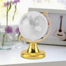 Clear Magic Crystal Glass Ball Globe World Map Meditate Sphere Home Decors Gift