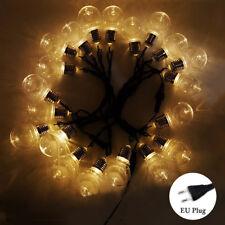 6M 20 LEDs Lichterkette Glühbirnen Hochzeit Schmücken Deko Lampe String Birne EU