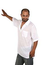 wunderschöne moderne orientalische Herren Tunika weiß 100% Baumwolle -KAM00651