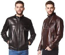 Men's Real Italian leather Jacket Ultra-Stylish Biker Motorcycle Style 9054