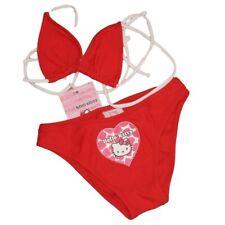 Costume bikini bambina Hello Kitty rosso