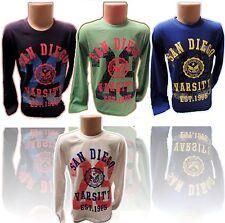 San-Diego Varsity~Jungen Langarmshirt T-Shirt Kinder T-Shirt~Jeans~NEU YL-512