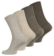 8 Paar Herren Diabetiker Socken, ohne Gummibund, Baumwolle, Strümpfe, Brauntöne