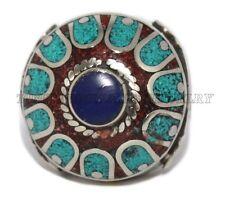 Turquoise Ring Coral Ring Tribal Ring Tibetan Ring Gypsy ring Lapis Ring Silver