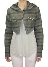 CUSTO BARCELONA Womens Alexandra Hooded Shrug Jacket RT592304 $617 NWT