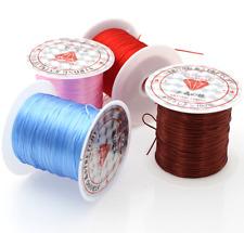 10m Nylon Colorful Crystal Line Stretch Elastic Jewelry Bracelet Beading Cord