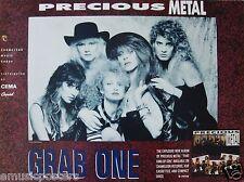 """PRECIOUS METAL """"GRAB ONE"""" U.S. PROMO POSTER -Female Metal Music"""