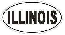 Illinois Oval Bumper Sticker or Helmet Sticker D2329 State Euro Oval