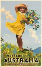 Vintage western australia Tourisme Poster A3 imprimer