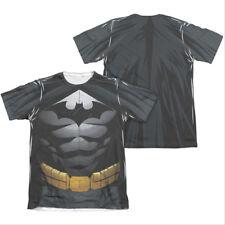 Batman Men's Uniform Costume Sublimation Two-Sided Tee Shirt Black