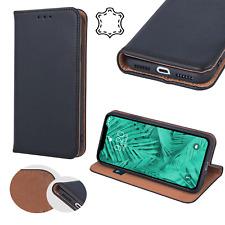 SMART PRO ECHT LEDER Buch Handytasche Premium Case Elegant Hülle Cover ver Handy