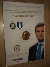 MEDAGLIA N°11 INTER CAMPIONE D'ITALIA 2007 GIACINTO FACCHETTI DORATE 24K
