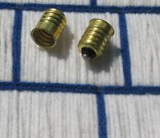 2 EUROPEAN e14 to US candelabra E12 LIGHT BULB ADAPTER SOCKET reducer brass base