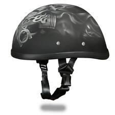 Daytona Helmets Skull Cap EAGLE- W/ PISTONS SKULL Motorcycle Helmet 6002PS