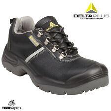 Delta Plus Montbrun Wide Fitting Mens Black Leather Steel Toe Cap Work Shoes PPE