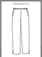 FLAX Pocketed Social Pant Straight full length straight Linen BLACK S M L 1G 2G