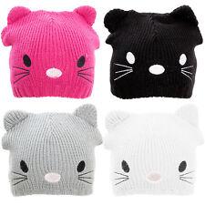 Cappello bambino bambina unisex cappellino tricot GATTO cuffia orecchie  YF-2025 94c64e538c2e