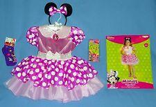 DISNEY MINNIE MOUSE COSTUME DRESS girls 4-6X;EARS;NECKLACE-BRACELET;SOCKS;LOT-5