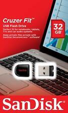 PENNETTA USB 2.0 SANDISK 16 32 GB Cruzer Fit Pen Drive Chiavetta PC