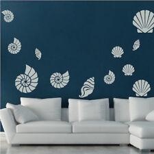 Seashell Wall Decal Beach Wallpaper Ocean Shells Removable Sea Conch Fish, g40