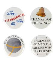 It's a Wonderful Life Button Set! Christmas, James Stewart frank capra
