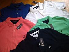 NWT $60. MSRP, Men's Nautica Short-Sleeve 100% Cotton Polo Knit Shirt