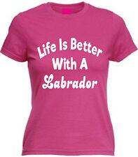 La vida es mejor con un labrador Camiseta Adultos Niños Perro Perdiguero amante presentes