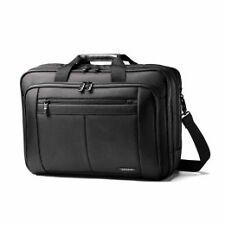 "Genuine Samsonite Classic Three Gusset Briefcase Case up to 15.6"" Laptop - Black"