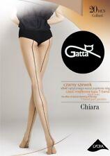 """Gatta """"Chiara 05"""" Strumpfhose in daino (Haut) mit Naht in schwarz Gr. S - M - L"""
