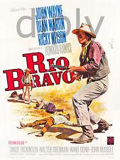REPRO DECO AFFICHE CINEMA WESTERN RIO BRAVO JOHN WAYNE SUR PAPIER 310 OU 190 GRS