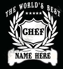 CHEF COCINERO Camiseta Personalizado Agregar Nombre Regalo Gran Idea Worlds Best