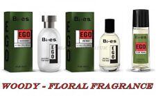 Bi Es EGO Green EAU de Toilette After Shave Deo Spray Woody Fragrance 100 ml