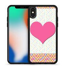 Gorgeous Pretty Pink Love Heart Chevrons Polka Dots Pattern Soft Gel Phone Case