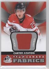 2012 SP Game Used Edition Team Canada Fabrics TC-1 Carter Ashton (National Team)
