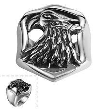 Stainless Steel  Antique Gothic Biker Tribal Ring Black  Men's Unisex Eagle B188