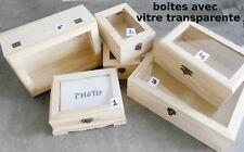 boites de rangement avec couvercle transparent, boite à bijoux, perles, photos