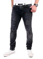 VSCT Jeans Herren Keno Rock Heavy Destroyed Look Jeans-Hose V-5641831 Schwarz