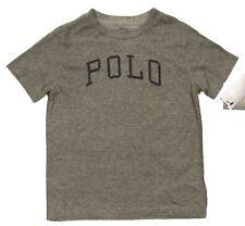 Polo Ralph Lauren Boys Grey Heather Logo Print Crew-Neck Short Sleeve T-Shirt