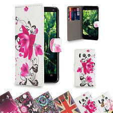 Similpelle Disegno Libro a portafoglio custodia Cover per Telefoni Huawei+