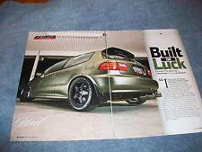 "1993 Honda Civic CX Hatch Article 'Built on Luck"" K20A"