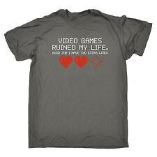 Videojuegos arruinaron mi vida tiene dos vidas extra T-Shirt Jugador Regalo Padres Día