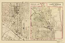 Old City Map - Ft. Worth Texas Landowner - Gray 1885 - 23 x 34.71