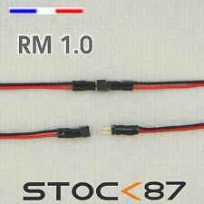 3005# micro connecteur câblé 2 fils noir/rouge pas 1mm - mâle + femelle - train