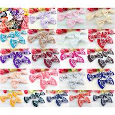 5/50/100pcs Satin Ribbon Organza lace BOW Appliques/craft/Wedding decoration