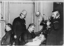 Photo New York City Police Dept. activities In mati  Bureau at HQ 4 men at work