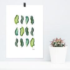 """JUNIWORDS Poster """"Blätter 3 x 4"""" Geschenk Geburtstag Natur Blätter DIN A4 A3 A2"""