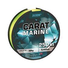 Angelschnur Meeresschnur JAXON CARAT MARINE Gelb-fluo 250m Spule Monofile NEU