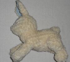 Gymboree 2004 Cream White Plush Stuffed Bunny Rabbit Blue Chenille Feet Ears