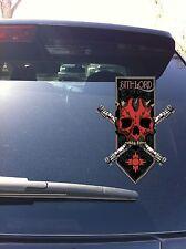 03-29 Darth Maul Sith Skull Banner Window vinyl decal Force Star Wars Sith Order
